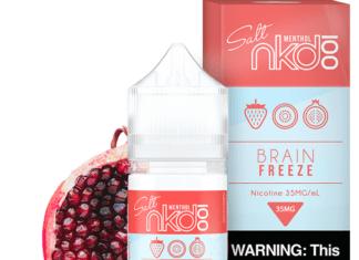 Menthol Strawberry POM Ejuice (AKA Brain Freeze) by Naked 100 Review